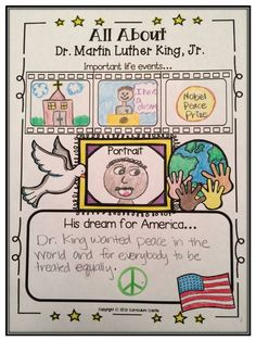 Structure for how to record a person on a timeline Happy Martin Luther King, Jr. All About MLK Poster Freebie! Social Studies Activities, Teaching Social Studies, History Activities, Holiday Activities, Classroom Activities, Classroom Ideas, Mlk Jr Day, School Holidays, King Jr