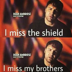 Maybe at Payback, the Shield will reunite . I know it's a long shot . but either Seth can turn face, or Roman and Dean can turn heel, and the Shield reuniting and turning on Orton would make my lil black heart skip a beat! Dean Ambrose Shield, Dean Ambrose Seth Rollins, Roman Reigns Dean Ambrose, Wwe Dean Ambrose, Wrestling Memes, Wrestling Stars, Raw Wrestling, Le Shield, The Shield Wwe