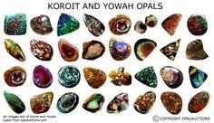 Koroit and Yowah opals - so beautiful!
