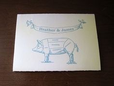 perfect invite for a pig roast wedding
