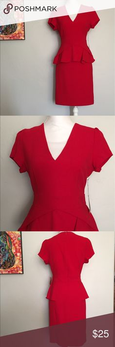 Love 21 Red V Neck Lined Dress, size M  NWT Gorgeous new with tags lined red dress. Perfect condition! Women's size M. Love 21 Dresses Midi