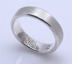 finger print in ring..love this idea