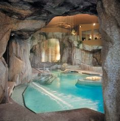 Dream House With Indoor Pool cave home - with indoor pool - like a dream | pool fantasy