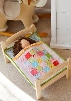 Doll quilt and pillow, so pretty!   I'm a Grandma!...   Pinterest ... : doll quilt size - Adamdwight.com