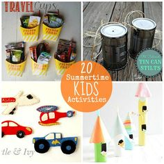 Great Ideas-- 20 Summertime Kids Activities-- Tatertots and Jello #DIY #Summer