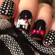 cat nail art - Fashion for Women Fancy Nails, Cute Nails, Pretty Nails, Fabulous Nails, Gorgeous Nails, Nailart, Nail Polish Designs, Nail Art Designs, Essie