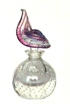 Vintage Pairpoint Art Glass Perfume Bottle :