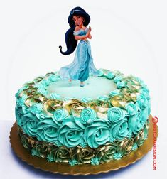50 Most Beautiful looking Aladdin Cake Design that you can make or get it made on the coming birthday. Jasmine Birthday Cake, 9th Birthday Cake, Happy Birthday Cakes, Birthday Parties, Disney Aladdin, Aladdin Cake, Cake Designs Images, Cool Cake Designs, Princess Jasmine Cake