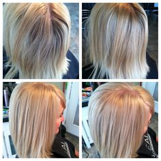 Formula: High-lift blonde .12 w/30vol. Glaze DiaLight 10.12 w/6vol.  #culturessalon #michellelindsay #blonde www.culturessalon.com