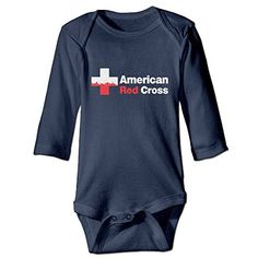 Amaronly Boys  Girls American Red Cross Classic Long Sleeve Romper Jumpsuit 18 Months Navy ** Want to know more, click on the image.