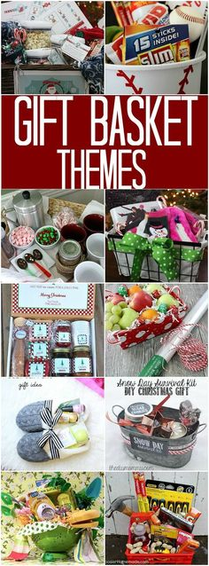Gift Basket Themes: 100 Days of Homemade Holiday Inspiration – Hoosier Homemade – Lovely Gifts Themed Gift Baskets, Birthday Gift Baskets, Christmas Gift Baskets, Diy Christmas Gifts, Holiday Gifts, Birthday Gifts, Gift Basket Themes, Christmas Gift Themes, Theme Baskets