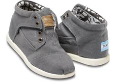 Botas - Ash Canvas Tiny TOMS Botas | TOMS.co.uk