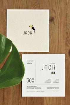 Jack Geboortekaart #birthannouncement #babycard Geboortjekaartje meisje jongen birth announcement card