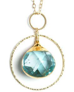 Aquamarine Necklace - pretty for layering