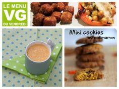 Menu VG du vendredi spécial longues soirées d'hiver Mini Cookies, Beef, Breakfast, Food, Vegetable Curry, Healthy Dips, Cereal Bread, Vegetable Stock, Meat
