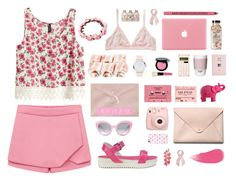 """On wednesdays we wear pink."" by catarinamorais on Polyvore featuring moda, Monki, H&M, Love Moschino, Bobbi Brown Cosmetics, ROOM COPENHAGEN, Mario Luca Giusti, ASOS, HarLex e Crap"