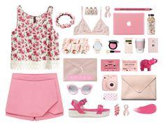 """On wednesdays we wear pink."" by catarinamorais ❤ liked on Polyvore featuring Monki, H&M, Love Moschino, Bobbi Brown Cosmetics, ROOM COPENHAGEN, Mario Luca Giusti, ASOS, HarLex, Crap and Uncommon"