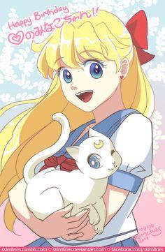 skimlines:  ^^ officially Sailor Venus' birthday today. Happy Birthday Aino Minako~~♡♡