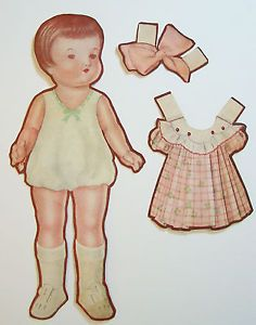 Vintage 1930's Antique Baby Paper Doll Patsy Ann | eBay* The International Paper Doll Society by Arielle Gabriel for all paper doll and paper toy lovers. Mattel, DIsney, Betsy McCall, etc. Join me at Twitter QuanYin5, #QuanYin5 @QuanYin5 and Linked In QuanYin5 YouTube QuanYin5!