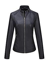 Bellivera Women's Faux Leather Jacket,Moto Casual Short Coat for Spring and Fall Womens Black Leather Jacket, Lambskin Leather Jacket, Leather Jackets, Leather Coats, Denim Jackets, Women's Jackets, Real Leather, Winter Jackets Women, Coats For Women