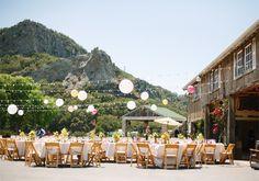 Wedding reception at Holland Ranch in gorgeous San Luis Obispo California