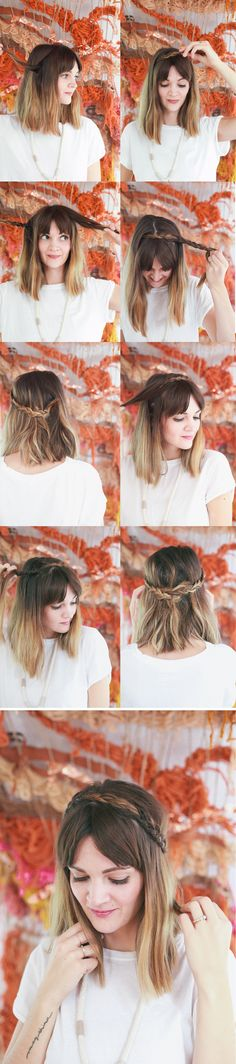 Hair Tutorial // Half Up Braided Crown —