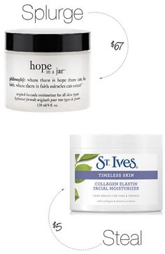 Beauty Splurge vs. Steal of the Week: Philosophy Hope In a Jar (note: ingredients are not similar).