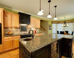 Black Appliances Oak Cupboards