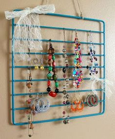 re-purposed idea that is super simple and colorful. It's simply an oven rack!