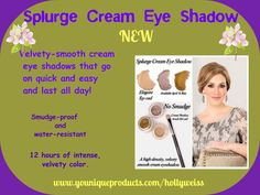 Stunning, creamy, smooth shadow. Can be used on eye or lips.