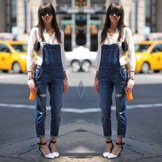 Macacão  Jeans street style