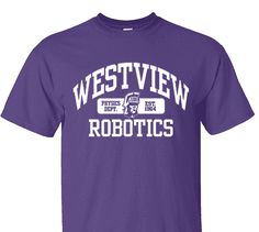 High School Impressions RBT-009-W; Custom Robotics Club Tees - Create your own design for t-shirts, hoodies, sweatshirts. Choose your Text, Ink and Garment Colors