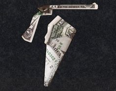 Hello, Up for sale is a beautifully crafted Origami Gun and Holster. It's made with 2 brand new dollar bills. It makes a great novelty gift for that Origami Love Heart, Origami Star Box, Origami Folding, Origami Paper, Folding Money, Origami Instructions, Origami Tutorial, Dollar Bill Origami, Dollar Bills