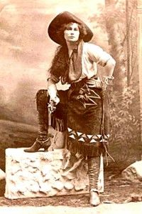 "Old West Cowgirl -  Marie Lords in 1861 said ""A cowgirl gets up early in the morning, decides what she wants to do, and does it."""