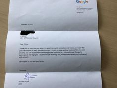 Chloe Bridgewater, a seven-year-old girl hailing from Hereford, UK, wrote an adorable letter to Google CEO Sundar Pichai seeking a job at the world's biggest search engine.