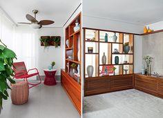 Após fechar a varanda de 9 m² do apartamento com painéis de vidro, a arquiteta Luciana Taneli, do Studio Taneli ukai, substituiu a porta-jan...
