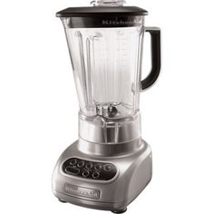 5 speed blender with 56-ounce Polycarbonate pitcher can crush ice at any speed.