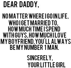Daddy ♥ so very true :)