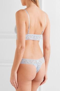 Hanky Panky - Signature Stretch-lace Soft-cup Bra - Sky blue - x small