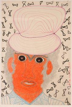 Inez Nathaniel Walker. Woman In Orange Hat.