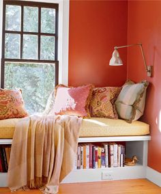 I've wanted a window seat ever since I was a little girl.  Guest room?
