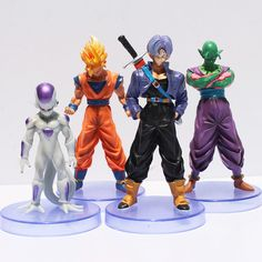 Promo Offer 4Pcs/Set Dragon Ball 3th Goku Flisa Piccolo PVC Action Figure Toy Collectible Model Doll Brithday Gift 1012cm Free Shipping