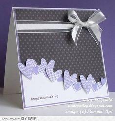 SU - I heart hearts Stampin' Up! Wedding Anniversary Cards, Wedding Cards, Paper Cards, Diy Cards, Valentine Love Cards, Valentine Colors, Valentines Hearts, Card Making Inspiration, Creative Cards