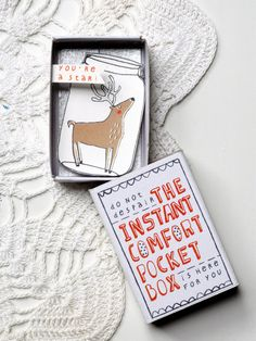HaHa!  The CHRISTMAS Instant Comfort Pocket Box - Little Reindeer