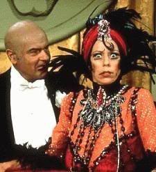 """Carol Burnett and Harvey Korman spoofing """"Sunset Boulevard"""" on The Carol Burnet Show."""