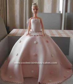 Homemade  Barbie Doll Birthday Cake Idea: I wanted a Barbie Doll Birthday Cake Idea for my god-daughter's 5th birthday. After searching the web for some Barbie cake ideas, I was quite taken with