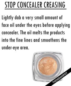 STOP UNDER EYE CONCEALER FROM CREASING WITH OIL