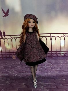 OUTFIT OOAK ELLOWYNE WILDE AND FRIENDS dress, stole, hat, robe, étole
