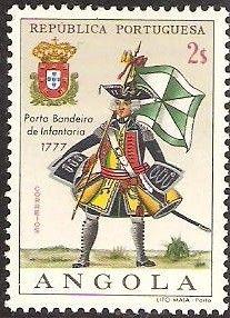 Stamp: Flagbearer Infantry, 1777 (Angola) (Military Uniforms) Mi:AO 528,Sn:AO 516,Yt:AO 523,Afi:AO 505