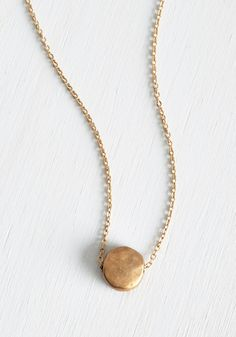 Gild to Last Necklace. Sometimes all you need is a subtle, shining touch such as this delicate gold necklace!  #modcloth